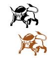 Wild buffalo bull vector image vector image