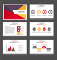 Yellow purple green presentation templates set vector image