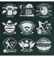 Baseball Monochrome Emblems vector image