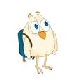 funny little bird vector image