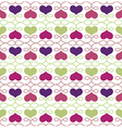 Vintage Seamless Pattern with Hearts vector image