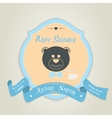 Baby shower invitation with teddy bear toy vector image