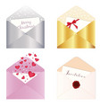 4 envelopes isolated vector image vector image