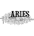 aries as a boyfriend your sign may play a factor vector image vector image