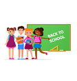 back to school concept with vector image vector image
