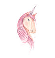 beautiful unicorn head for children design