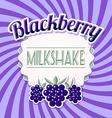 Blackberry milkshake vector image vector image
