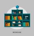 bookcase conceptual design vector image