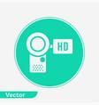 camcorder icon sign symbol vector image vector image