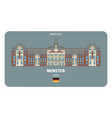 castle in munster germany architectural symbols vector image