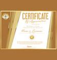 certificate retro design template 24 vector image vector image