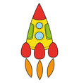 Childrens drawing a rocket vector image