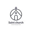 church line icon christian logo vector image