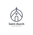 church line icon church christian logo vector image