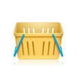 colorful shopping basket symbol on white vector image