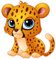 cute baby cheetah cartoon vector image