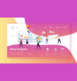 data analysis concept landing page flat people vector image vector image