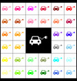 eco electric car sign felt-pen 33 vector image vector image