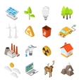 Ecology And Environment Protection Icon Set vector image vector image