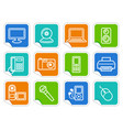 equipment stickers vector image vector image