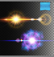explosion and burst effects on dark background vector image vector image