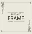 frame elegant line style square shape vector image vector image