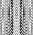 geometric striped black and white pattern vector image vector image