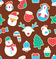Gingerbread seamless pattern vector image vector image