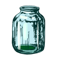 glass jar vector image