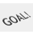 goal text vector image vector image