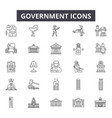 government line icons for web and mobile design vector image vector image