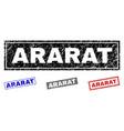grunge ararat textured rectangle watermarks vector image vector image