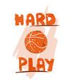 hand draw basketball ball vector image vector image