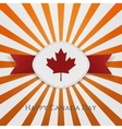 Happy Canada Day paper Card Template vector image