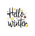 hello winter holiday banner vector image vector image