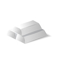 High quality silver ingots vector image vector image