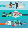 higher education banner set vector image vector image