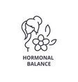 hormonal balance thin line icon sign symbol vector image
