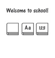 icon of book school symbol book logo primer vector image
