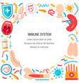 immune system concept vector image vector image