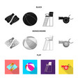 isolated object of pool and swimming icon set of vector image vector image