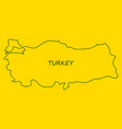 map of turkey filled with flag of the state vector image vector image