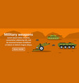 military weapons banner horizontal concept vector image vector image