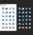 money icons light and dark theme vector image