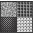 Monochrome geometrical patterns set vector image vector image