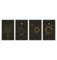 moon and sun tarot cards mystical hand drawn vector image