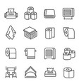 napkins and toilet paper linear icons set vector image vector image