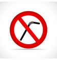 no straws circle icon vector image vector image