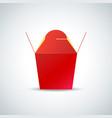 noodle paper box mockup vector image vector image
