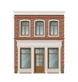 old brick residential building facade vector image